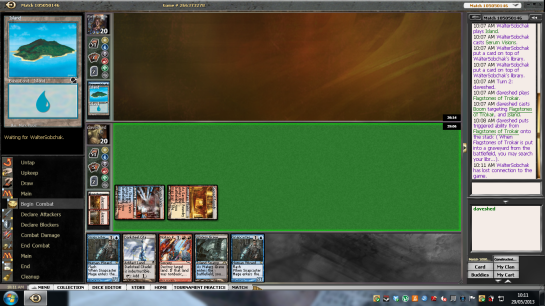 That's exactly what was about to happen here... had my opponent not gone on rampaging tilt and disconnected after the first Boom.